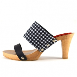 Clogs Doutsen Black Check