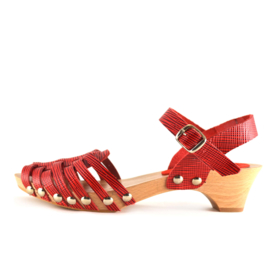 Clogs Braid Red