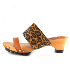 Clog Welmoed Natural Leopard