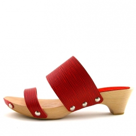 Clogs Nynke Red