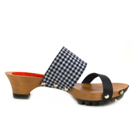 Clogs Welmoed Black Check
