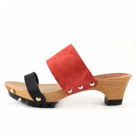 Clogs Welmoed Black Coral