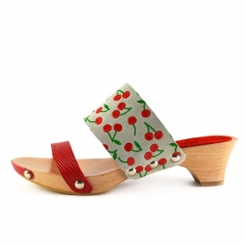Clogs Nynke Red Cherry