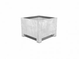 Verzinkt staal plantenbak vierkant 'Savona'  L60xB60xH60 cm