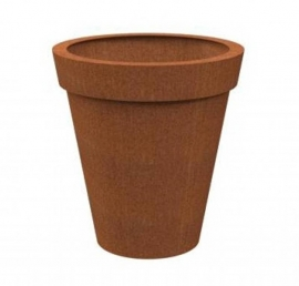 Cortenstaal plantenbak 'Bordo' Ø80 x H80 cm