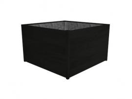 Hardhouten plantenbak 'Lugano' Black Edition L60xB60xH62 cm