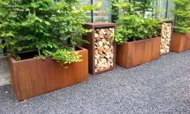 Cortenstaal plantenbak 'Divisorio' L120xB50xH60 cm
