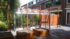 Cortenstaal plantenbak 'Angoli' L100xB100xH40 cm