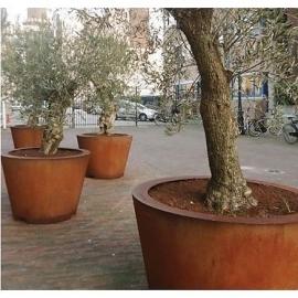 Cortenstaal plantenbak 'Cónico' Ø80 x H80 cm