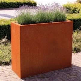 Cortenstaal plantenbak 'Divisorio' L90xB30xH80 cm