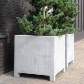 Verzinkt staal plantenbak vierkant 'Savona'  L70xB70xH70 cm