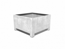 Verzinkt staal plantenbak vierkant 'Savona'  L100xB100xH60 cm