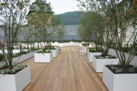 Aluminium plantenbak 'Sin Tiempo' L100xB100xH60 cm