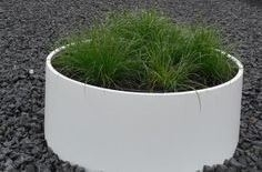 Aluminium plantenbak 'Forio' Ø100xH60 cm