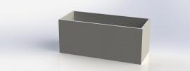 Polymeerbeton plantenbak 'Monza' L120xB50xH50 cm