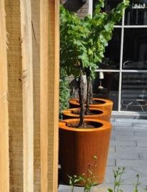 Cortenstaal plantenbak 'Cónico' Ø30 x H30 cm