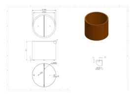 Cortenstaal plantenbak 'Cilinder' Ø100 x H80 cm