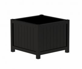Hardhouten plantenbak 'Olbia' Black Edition L100xB100xH95 cm