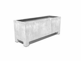 Verzinkt staal plantenbak vierkant 'Sienna'  L150xB50xH60 cm