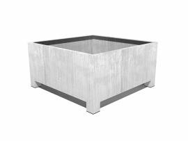 Verzinkt staal plantenbak vierkant 'Savona'  L180xB180xH60 cm