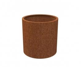 Cortenstaal plantenbak 'Cilinder' Ø80 x H60 cm
