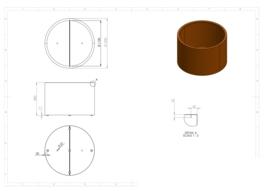 Cortenstaal plantenbak 'Cilinder' Ø120 x H80 cm