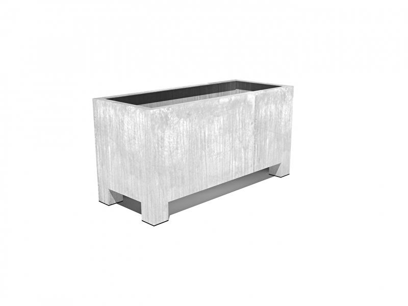 Verzinkt staal plantenbak vierkant 'Sienna'  L120xB50xH60 cm