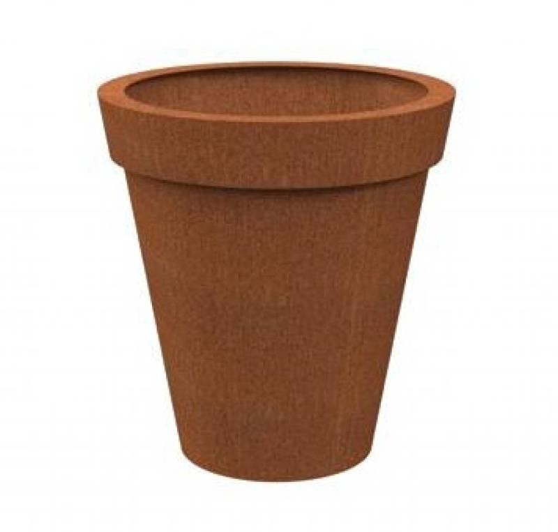 Cortenstaal plantenbak 'Bordo' Ø100 x H100 cm