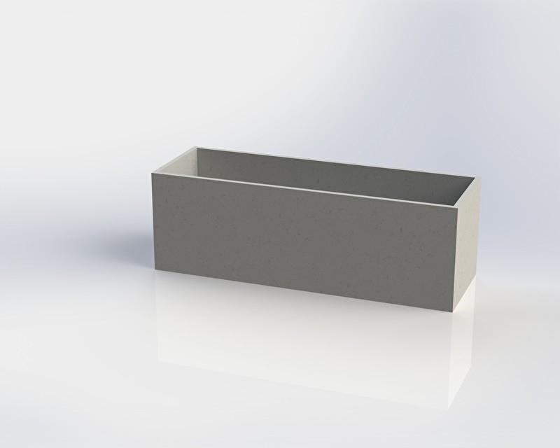 Polymeerbeton plantenbak 'Monza' L150xB50xH50 cm