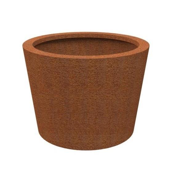 Cortenstaal plantenbak 'Cónico' Ø100 x H80 cm