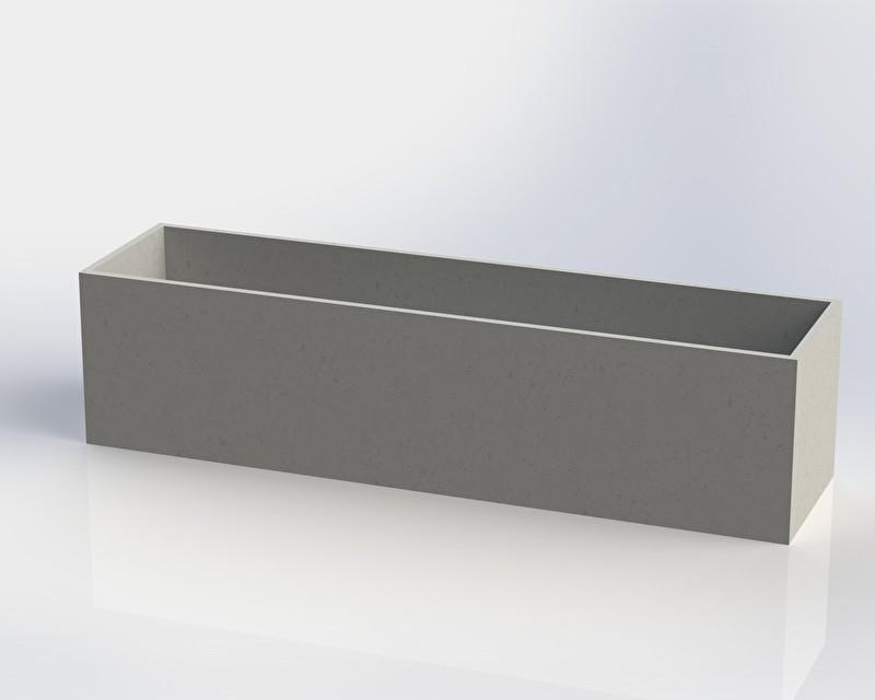 Polymeerbeton plantenbak 'Monza' L200xB50xH50 cm