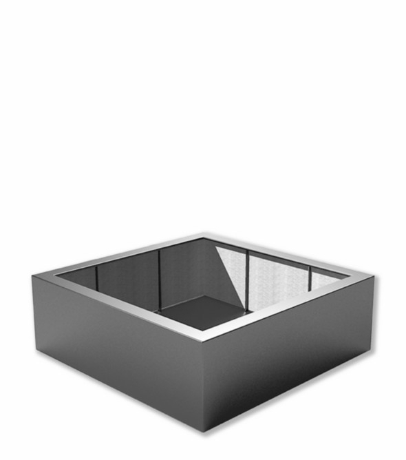 Kunststof plantenbak 'Carré' 120x120x40 cm
