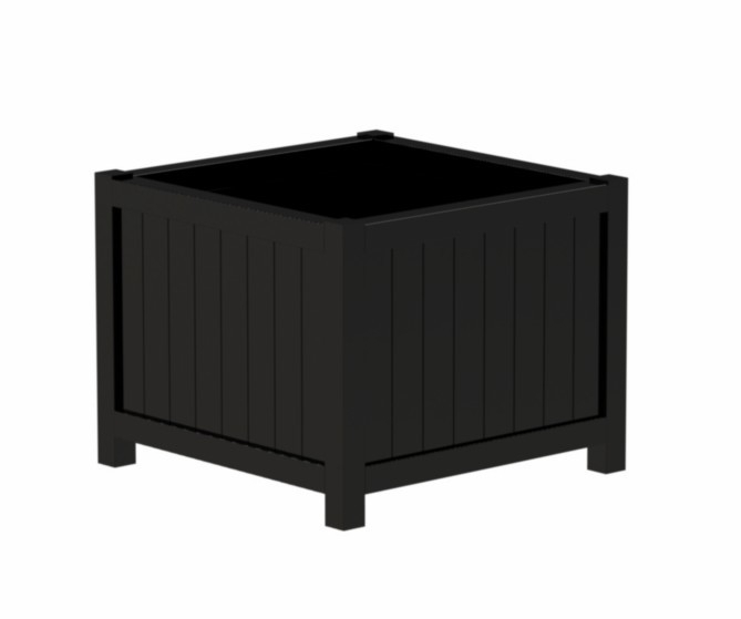 Hardhouten plantenbak 'Olbia' Black Edition L200xB50xH60 cm