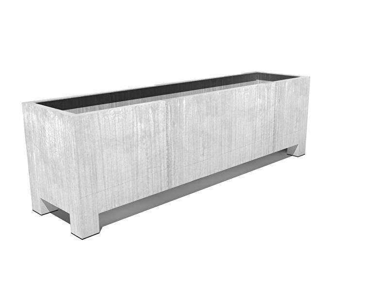 Verzinkt staal plantenbak vierkant 'Sienna'  L250xB60xH80 cm