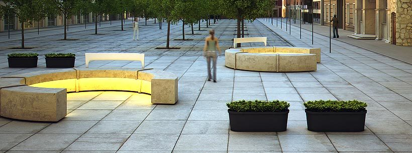 polymeer beton plantenbak
