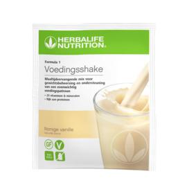 Voedingsshake in de smaak Romige Vanille portie verpakking  7 zakjes