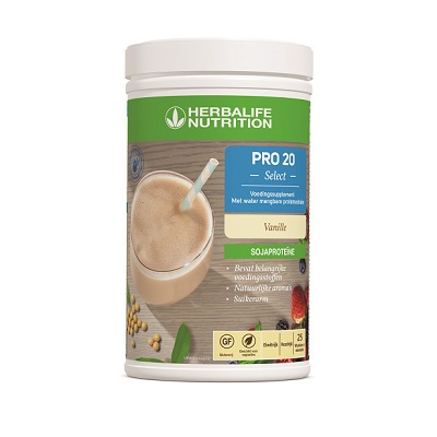 Pro 20 Select shake Vanille, 15 porties, 20 gram eiwit, suikerarm, mengbaar met water