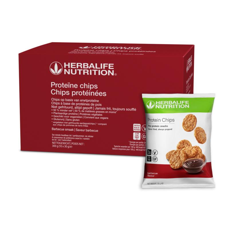 Proteïne chips 10 zakjes van 30 gr