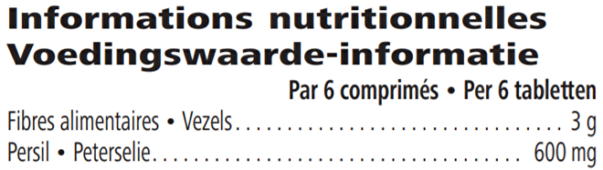 Voedings info Herbalife Vezel- en kruidentabletten