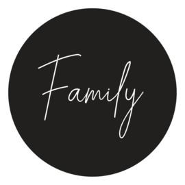 Muurcirkel - Family - zwart - 20 cm