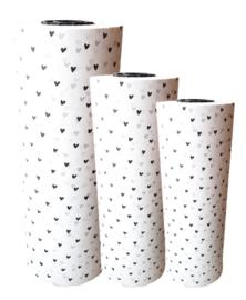 Tissue paper / Vloeipapier - Hartjes - op rol - 2m