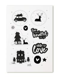 Stickers - Kerst - cadeaustickers (knuffel) - 20 stuks