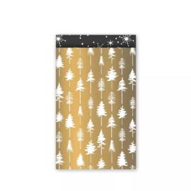Kadozakje - Lovely Trees - goud - per 5 stuks (12x19cm)
