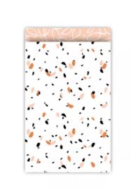 Kadozakje - SOW - peach / roest - per 5 stuks (17x25cm)