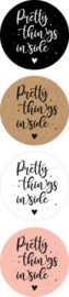 Stickers - Pretty things inside 🤍 - assorti - per 10 stuks