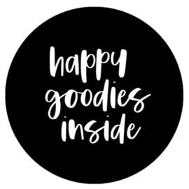 Stickers - happy goodies inside - XL - per 5 stuks