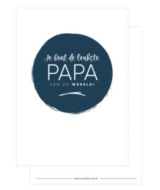 Kaart - Je bent de leukste PAPA van de wereld!