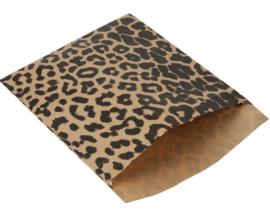 Kadozakje - Leopard kraft - per 5 stuks (17,5x21,5cm)