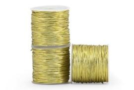 Koord - elastisch, rond goud - 3m