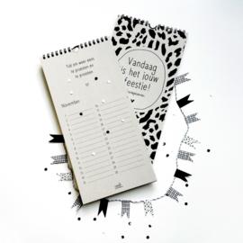 Verjaardagskalender - Vandaag is het jouw feestje! - grijsboard